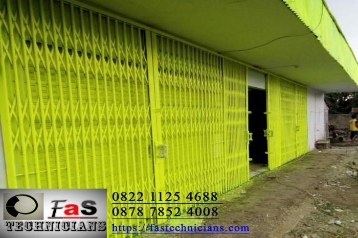 Folding Gate Harmonika Warna Kuning